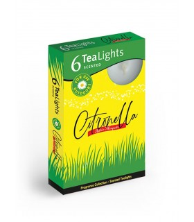 Candela Tea Lights Santo Candles Fragranza Citronella conf. 6 pz.