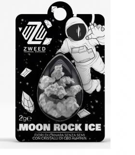 Fiori di Canapa Senza Semi ZWEED MOON ROCK ICE con Cristalli di CBD AL 96% Bustina da 2gr