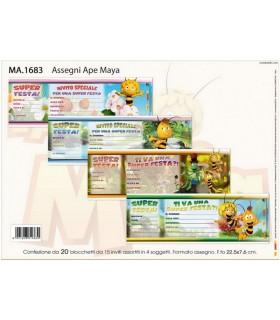 Assegni Ape Maya conf. 20 blocchetti da 15 inviti