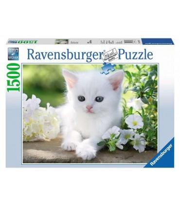Puzzle Ravensburger 80x60 cm. 1500 pz. Gattino Bianco