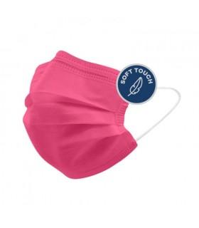 Mascherine Chirurgiche Protettive POPme Monouso 3 Strati colore Rosa Blister da 5 pz.
