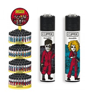 Accendino Clipper Large  80 Mix Expo Girevole da 192 pz. assortito con 16 colori