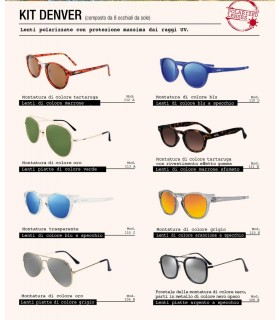 Occhiali da Sole El Charro Kit Detroit  Ecpo da 8 pz. modelli assortiti