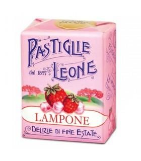 PASTIGLIE LEONE GUSTO LAMPONE IN SCATOLETTA DA 30G CONF. 18 PZ.