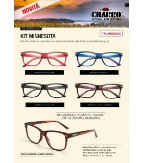 Occhiali da Lettura El Charro Kit Minnesota Expo da 24 pz. assortiti con 4 colori