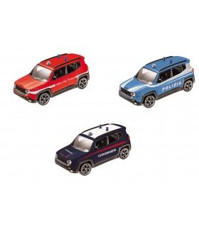 Modellini Auto Jeep Renegade Security Italia Burago  Scala 1:43 Expo da 24 pz. modelli assortiti