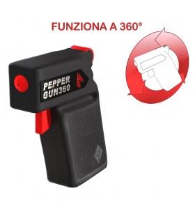 Spray Antiaggressione al Peperoncino 20ml Peper Gun 360 Defence System 2.000.000 Scoville