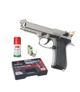 Pistola a Salve Scacciacani Mod. Beretta P92 Calibro 8 mm colore Cromato