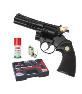 Pistola a Salve Scacciacani Mod. Phyton Revolver Calibro 38mm colore Nero