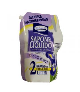 Sapone Liquido Mil Mil Mani Viso e Corpo Talco&Iris ricarica  2 Litri
