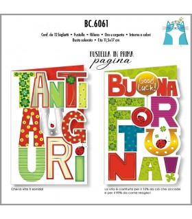 Biglietto Cromo Compleanno Portafortuna conf. 12pz. assortiti
