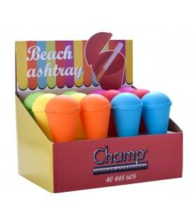 Posacenere Champ da Spiaggia in Plastica Colorata  Expo 12 pz. colori assortiti