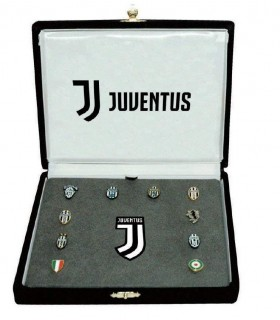 Spille FC Juvenus  in metallo in elegante cofanetto in velluto