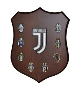 Targa in Legno con Loghi Smaltati Juventus
