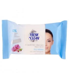 12 Salviettine Struccanti viso e occhi Fresh & Clean