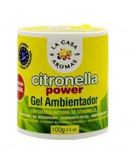 Gel Deodorante per Ambienti alla Citronella 100g