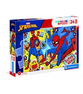 Puzzle Supercolor Clementoni Maxi 24 pz. Marvel Spiderman