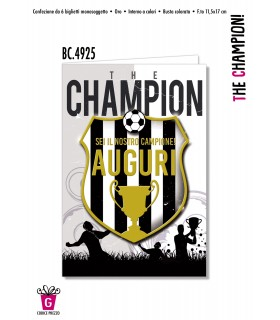 Biglietto Cromo Compleanno The Champion Bianconeri conf. 6 pz.
