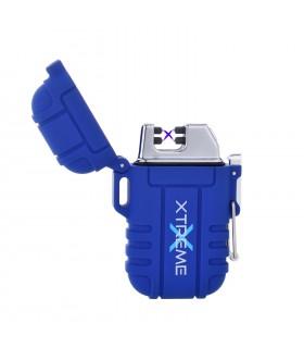 Accendino Elettronico Silver Match Xtreme Antivento con Doppio Arco al Plasma e ricarica USB colore Blu