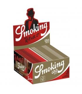 Cartina Smoking lunga Oro conf. da 50 pz.
