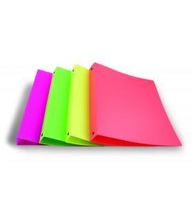 Raccoglitore Lebez 4 Anelli in PVC morbido 15mm colori Neon