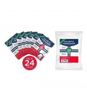 SALVIETTE IGIENIZZANTI PRETTY CLEAN IN BUSTINE MONOUSO 70% ALCOL CONF. 24 PZ