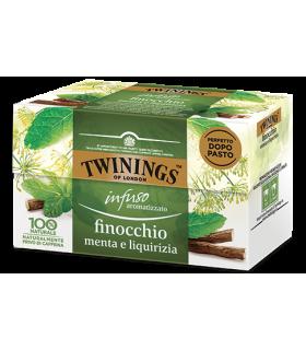 Infuso Twinings Aromatizzato Finocchio, Menta e Liquirizia conf. 25 bustine