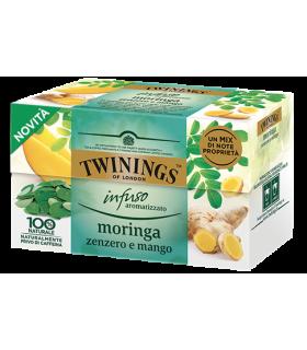 Infuso Twinings Aromatizzato Moringa, Zenzero e Mango conf. 25 bustine