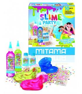 SLIME PARTY MITAMA  CON GLITTER CONF. 10 PZ.