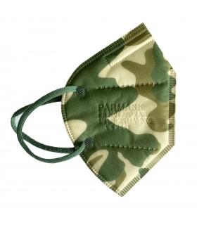 Mascherina Autofiltrante FFP2 CE 2841 colore Camouflage conf. 10pz (blisterate singolarmente)