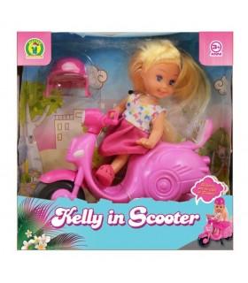 Bambola Kelly con Scooter Mazzeo Giochi