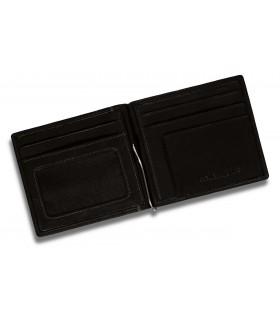 Portafoglio e Portacarte Dal Negro con Ribalta 12 Posti in Vera Pelle Color Cuoio
