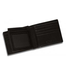 Portafoglio Portacarte di Credito Dal Negro 2 Tasche in Vera  Pelle Color Vitello Nero