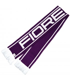 Sciarpa Tubolare Ricamata con Scritta A.C. Fiorentina