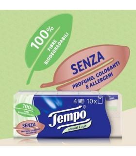 Fazzoletti TEMPO Natural&Soft 1 Cartone da 240 pz.