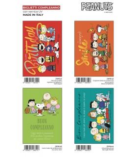 Biglietto Marpimar Compleanno Peanuts conf. 12 pz. assortiti