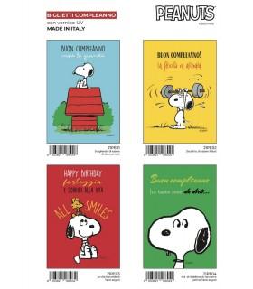Biglietto Marpimar Compleanno  Snoopy conf. 12 pz. assortiti