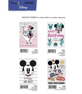 Biglietto Marpimar Compleanno Disney Metal con Glitter conf. 12 pz. assortiti
