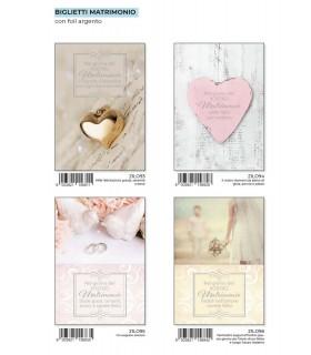 Biglietto Marpimar Matrimonio con Foil Oro conf. 12 pz. assortiti