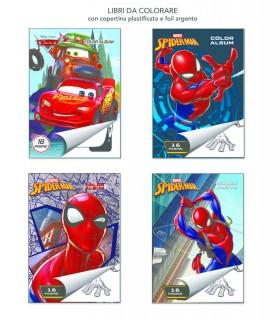 4 Libri da Colorare Marpimar da 16 Pagine ass. (Spiderman e Cars) come da foto