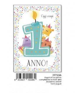 Biglietto Marpimar Compleanno Special 1 Anno con Applicazioni 3D conf. 6 pz. monosoggetto