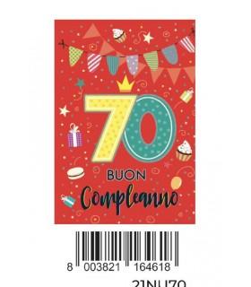 Biglietto Marpimar Compleanno 30 Anni con Glitter conf. 6 pz. monosoggetto