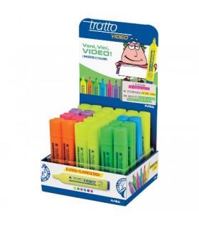 Evidenziatore Tratto Video assortito colori (verde-arancio-celeste-rosa-viola-giallo) conf. da 20 pz.
