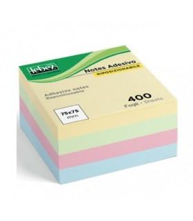 Post-It 75x75 mm Lebez Cuboi 400 Fogli colori pastello