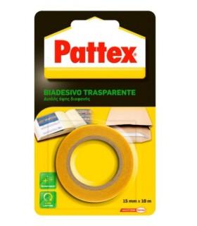 Patetx Biadesivo Trasparente mis.15mm x 10 MT