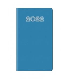 Agenda Settimanale 2022 mis.8x14 Mod. Gommato Disponibile in 2 colori Verde e Azzurro colori