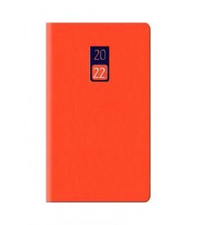 Agenda Settimanale  2022 mis.8x14 Mod. Jeans Disponibile in 2 colori Arancione e Mela Verde