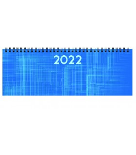 Planning da Tavolo Settimanale mis.29.8x10.5 Mod. Spiraplast colore Azzurro