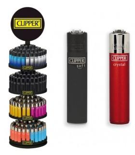 Accendino Clipper Micro Painted Expo Girevole da 192 pz. assortito con 16 grafiche