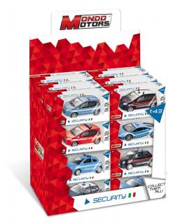Modellini Auto Security Team Mondo Motors Scala 1:43 Expo da 24 pz. modelli assortiti